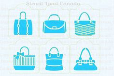 cookie stencils fashion handbags cupcake от Stencilforcakes