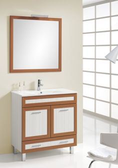 13fa28d469e1ed Ensemble de meubles pour salle de bain AIRANA de la marque AQUAGLASS avec meuble  sous-