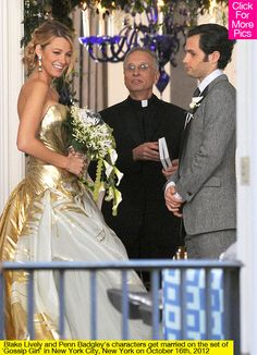Serena, Dan, wedding, gossip girl...the perfect ending...with Blair and Chuck getting married too:)