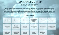seventeen of the world's largest philanthropic foundations announced commitments to pull their money out of fossil fuel companies and reinvest it in the clean energy economy... #divestinvest