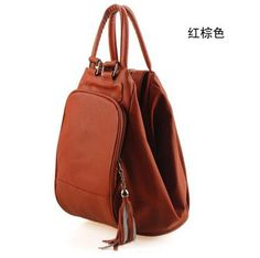 Nice 2016 HOT HOT Multifunctional High-Quality PU Leather Casual-Style Fringe Accent Backpack 9 Colors