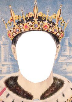 Wings of Whimsy: Royal Mask King PNG (transparent background) #vintage #ephemera #freebie #printable #royal #king #queen #mask