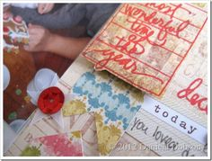 Sneak peek from Daniela Dobson of the October 2012 Studio AE stamp set from Ali Edwards and TechniqueTuesday.com.