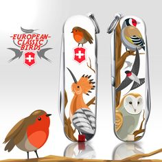 For the year, Victorinox and jovoto teamed up to design the 2017 Classic Limited Edition Swiss Army Knife. Here are the Victorinox 2017 Awards! Victorinox Pocket Knife, Victorinox Knives, Victorinox Swiss Army Knife, El Canton, Army Love, Bird Illustration, Tactical Knives, Knives And Swords, Animals Of The World