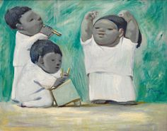Jean Charlot (French, 1898-1979), Mexican Children, 1937