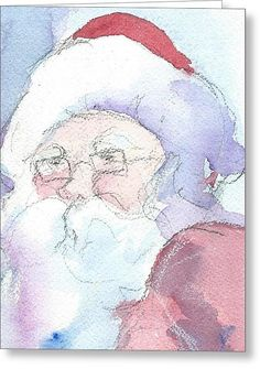 """""""Santa""""  Available in prints and cards on Fine Art America."""