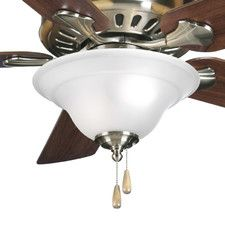 Charlton Home Bowl Ceiling Fan Kit Finish: Brushed Nickel Ceiling Fan Blades, Fan Light Kits, Fan Brush, Canopy Cover, Progress Lighting, Sloped Ceiling, White Shop, Kitchen Aid Mixer, Brushed Nickel