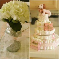 Center piece and diaper cake