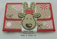 Gift card box Cookie Cutter Christmas reindeer, Stampin Up!