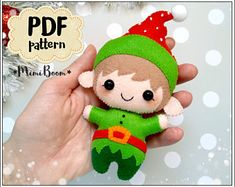 Rate this post Christmas elf felt pattern Santa Helper pattern Christmas ornaments pattern Chri… Christmas elf felt pattern Santa Helper pattern Christmas ornaments pattern Christmas Elves pattern felt Advent calendar patternChristmas pattern felt Ornament Pattern, Felt Ornaments Patterns, Felt Patterns, Easy Patterns, Sewing Patterns, Ornament Tutorial, Felt Christmas Ornaments, Noel Christmas, Christmas Crafts