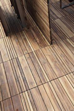 Pavimentazione in legno per esterni in quadri modulari DECKOUT - QuadrottaMix - MENOTTI SPECCHIA: DECKOUT - QUADROTTAMIX