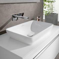 Villeroy & Boch Venticello semi-recessed countertop washbasin white with CeramicPlus