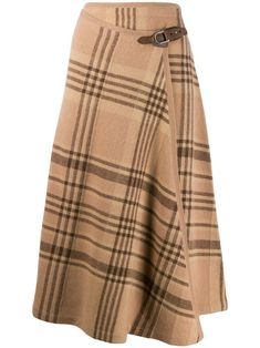 Lauren Collection plaid midi skirt - Brown -Ralph Lauren Collection plaid midi skirt - Brown - 68 Ideas Skirt Diy Ideas Simple Jw Anderson Karierter Rock - Blau J. Ralph Lauren Style, Ralph Lauren Black Label, Ralph Lauren Collection, Look Fashion, 90s Fashion, Fashion Outfits, Womens Fashion, Classic Fashion, Fashion 2020