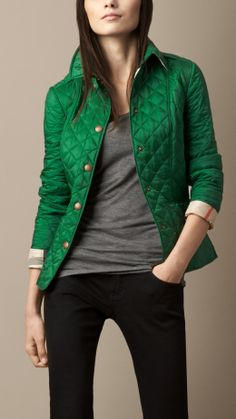 a78cbedf6 Diamond Quilted Jacket   Burberry Puffy Jacket, Green Puffer Jacket,  Fashion Wear, Fashion