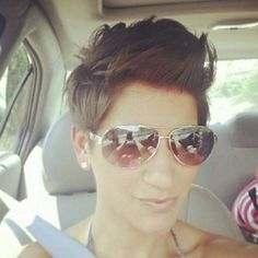 @annamaria1126. Showing off her #fauxhawk on #fauxhawkfriday
