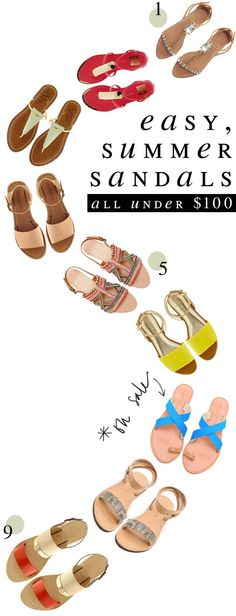 summer sandals, under $100 {& Pretty Things}