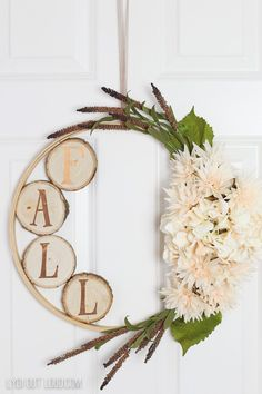 I am obsessed with all of these fall wreaths! I need to somehow come up with 30 doors so that I can enjoy all of them. ;) I can hardly wait for fall!