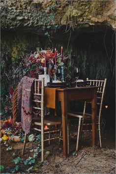 reception table setting #fallwedding @weddingchicks