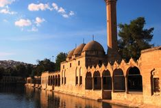 The Pool of Abraham is in the Turkish city of Urfa. It is believed to be the place where Nimrod threw Abraham into the fire. These days, the pool is filled with sacred carp fish. In Turkish, it is called Balikli Göl