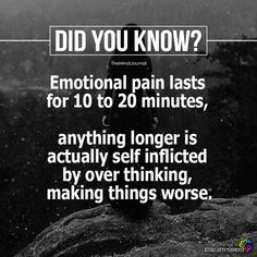 Emotional Pain Lasts For 10 To 20 Minutes - https://themindsjournal.com/emotional-pain-lasts-10-20-minutes/