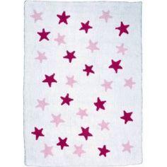 Alfombra White Stars Fucsia y Pink - 120x160 Alfombra Cenefa Nubes Azul Lorena Canals #Decoracion #infantil #ideas