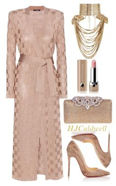 """""""Untitled #141"""" by hjcaldwell on Polyvore featuring Balmain, Rosantica, Christian Louboutin, Marc Jacobs, women's clothing, women's fashion, women, female, woman and misses"""