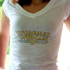 DIY Image Transfer - with freezer paper printed on by computer printer - Vintage T-Shirt