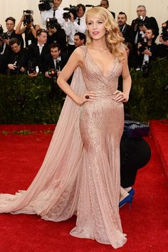 Gucci. MET gala 2014 - Blake Lively - not many people look like this woman.