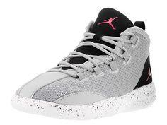 c83d662bb66d Nike Jordan Kids Jordan Reveal Gp Wolf Grey Vivid Pink Black Wht Basketball  Shoe Jordan