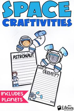 Perfect for a Space theme day or for planet reports.  These make an adorable display for your bulletin boards.  Differentiated writing lines for kindergarten, first grade, second grade, and third grade writers.  It is so fun to let students share what they have learned about astronauts, planets, stars, and gravity.