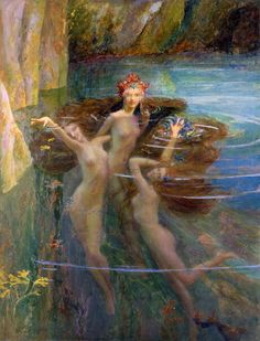 Water Nymphs, 1927 by Gaston Bussiere