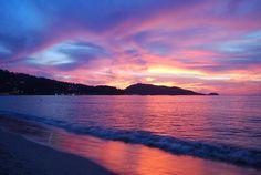 Patong Sunset, Patong Beach Phuket Thailand.   #Thailand #Phuket #Golf #PhuketGolfing #Vacation #Beaches #Resorts #PhuketThailand #Patong #PatongPhuket