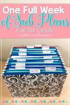 These 1st grade substitute plans include FIVE full days of lessons, making this a full week of first grade sub plans that are no prep and ready to go. Your students will be actively engaged in learning activities aligned to the 1st grade core while you are away. No need to worry about making plans to call in sick or take a much needed day off. Your time is worth saving! Thousands of teachers have trusted Ready To Go Sub Plans in their classrooms. Ideal for 1st grade teachers.