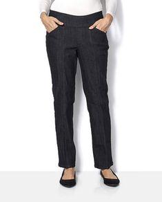 4d0ab502cf9 Denim  amp  Co How Smooth Straight Leg Petite Jean Black Size UK 22 TD074 03