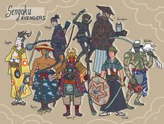 Ancient Asian Avenger Art - Alex Mitchell Re-Imagines Marvel Superheroes as Samurai Anime Characters (GALLERY)