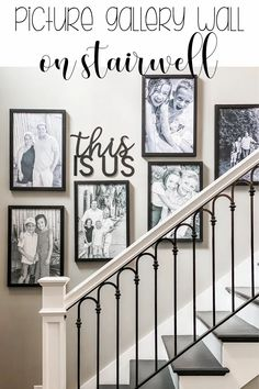 My stairwell has sat blank for almost a full year…just waiting for me to start on it…but the truth is, it felt overwhelming. That entry area has 18 foot ceilings, and the wall seemed so big and daunting.But…I decided that it was definitely time to follow my own advice... #GalleryWall #HomeDecor #PictureWall Stairwell Wall, House Decor Rustic, Stairway Decorating, Picture Gallery Wall, Affordable Home Decor, Beautiful Home Designs, Stairwell Pictures, Pinterest Home, Wall Decor Crafts