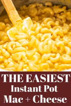 EASY Instant Pot Mac and Cheese. This creamy macaroni and cheese recipe is made in the Instant Pot and only uses REAL FOOD ingredients Best Mac And Cheese Recipe Easy, Instant Pot Mac And Cheese Recipe, Easy Mac And Cheese, Mac And Cheese Homemade, Best Instant Pot Recipe, Instant Pot Dinner Recipes, Mac Cheese Recipes, Recipes Dinner, Instant Pot Pressure Cooker