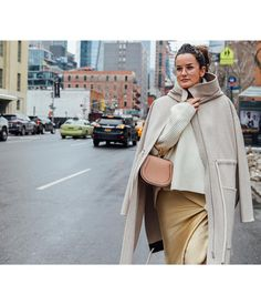 "17.5k Likes, 73 Comments - Chloé (@chloe) on Instagram: ""Walk this way – Lucy Chadwick bundled up at #NYFW in neutral hues, carrying her new Nile bag…"""
