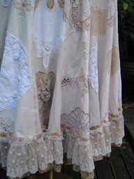 vintage linens skirt