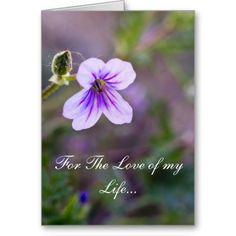 For The Love of my Life 2 Greeting Card by Florals by Fred #zazzle #photogift #gift