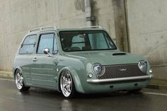 Pinned Image  A 1989 Nissan Pao! Why aren't there cute little green cars like this in the states?