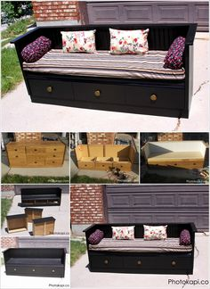 Look! An Old Dresser is Now Living a Second Life As a Bench