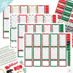 December 2017 Buffalo Plaid Planner Sticker Set - Free for Personal Use | Kelly Lollar Designs