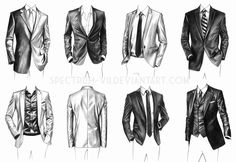 A study in suits by Spectrum-VII.deviantart.com on @DeviantArt