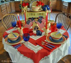 Fiesta® Dinnerware ~ Red, White and Blue | The Little Round Table