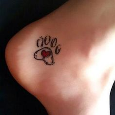 Animal Print Heart Tattoo Idea