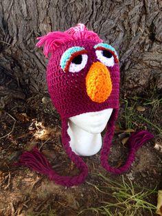 Telly Sesame Street hat by KristinsArt4u on Etsy