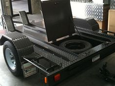 We manufacture bike trailers with removable loading ramps and offer a range of… Toy Hauler Trailers, Toy Hauler Camper, Bike Trailers, Cargo Trailer Camper, Equipment Trailers, Flatbed Trailer, Custom Trailers, Motorcycle Trailer, Car Trailer
