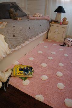 villa-sternenstaub | teppich grau sterne gelb/pink/weiß | lorena ... - Kinderzimmer Gelb Pink