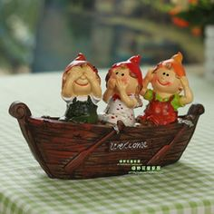 Home accessories decoration rustic decoration resin doll boat scaphotrapezial crafts furnishings decorations